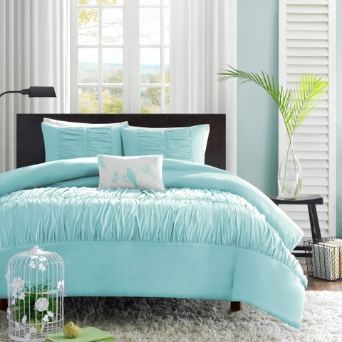 Mi Zone Cristy Auqa Duvet Cover Set