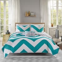 Mi Zone Aries Blue Reversible Coverlet Set