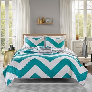 Mi Zone Aries Blue Reversible Quilt Set (3 options available)