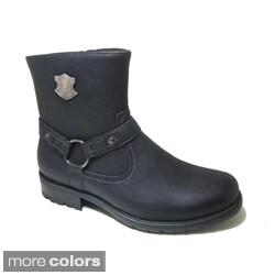 Polar Fox Men's Mid-calf Side Zip Motorcycle Boots