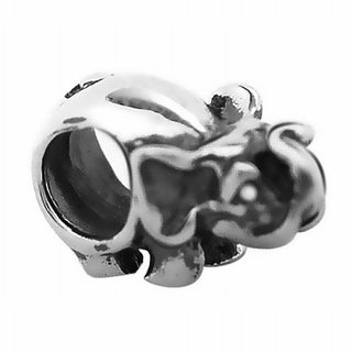 De Buman Sterling Silver Elephant Antiqued Charm Bead