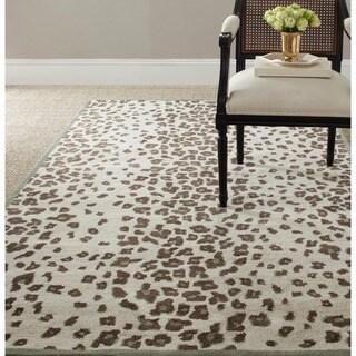 Martha Stewart Kalahari Grassland Green Wool/ Viscose Rug (2'6 x 4'3)