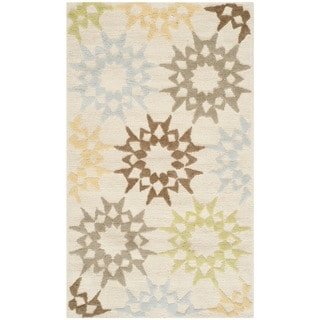 Martha Stewart Quilt Cream Cotton Rug (2'6 x 4'3)