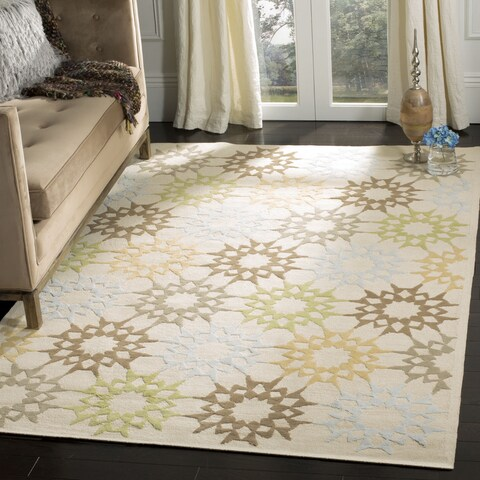 "Martha Stewart by Safavieh Quilt Cream Cotton Rug - 2'6"" x 4'3"""
