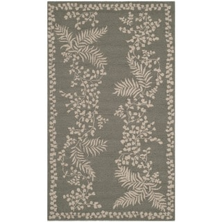 Martha Stewart by Safavieh Fern Row Tarragon/ Green Wool Rug (3'9 x 5'9)