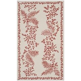 Martha Stewart Fern Row Red/ Dahlia Wool Rug (2'6 x 4'3)