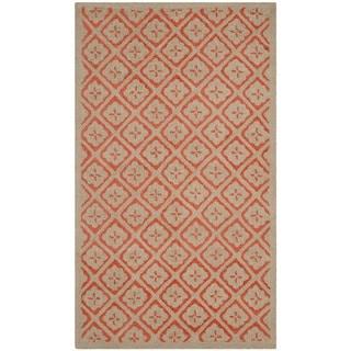 Martha Stewart Blossom Lattice Quince Blossem Red Wool Rug (2'6 x 4'3)