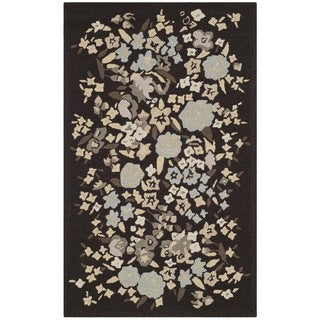 Martha Stewart Watercolor Garden Inkwell Wool Rug (3'9 x 5'9)