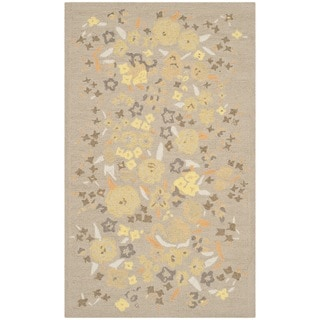 Martha Stewart Watercolor Garden Nutshell Wool Rug (2'6 x 4'3)