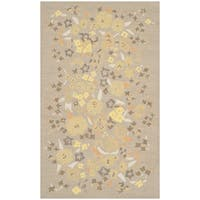 "Martha Stewart by Safavieh Watercolor Garden Nutshell Wool Rug - 2'6"" x 4'3"""