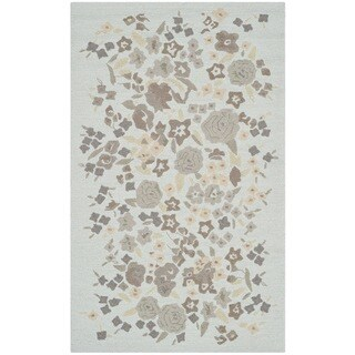Martha Stewart Watercolor Garden Cloud Wool Rug (2'6 x 4'3)