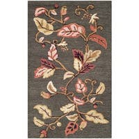 "Martha Stewart by Safavieh Autumn Woods Francesca Black Wool/ Viscose Rug - 2'6"" x 4'3"""