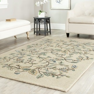 Martha Stewart by Safavieh Autumn Woods Colonial Blue Wool/ Viscose Rug (8'x 10')