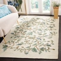 Martha Stewart by Safavieh Autumn Woods Colonial Blue Wool/ Viscose Rug - 8' x 10'