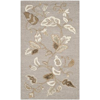 Martha Stewart Autumn Woods Grey Squirrel Wool/ Viscose Rug (2'6 x 4'3)