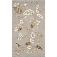 "Martha Stewart by Safavieh Autumn Woods Grey Squirrel Wool/ Viscose Rug - 2'6"" x 4'3"""