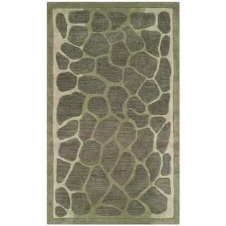 Martha Stewart Arusha Grassland Green Wool/ Viscose Rug (2'6 x 4'3)