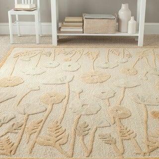 Martha Stewart by Safavieh Poppy Glossary Nutshell/ Brown Wool/ Viscose Rug - 2'6' x 4'3'