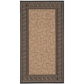 Martha Stewart by Safavieh Byzantium Dark Beige/ Black Indoor/ Outdoor Rug (2'7 x 5')