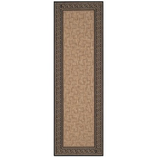 Martha Stewart Byzantium Dark Beige/ Black Indoor/ Outdoor Rug (2'7 x 8'2)