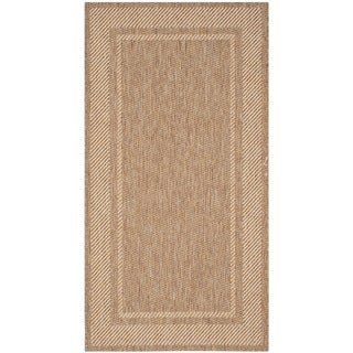 Martha Stewart by Safavieh Color Frame Coffee/ Sand Indoor/ Outdoor Rug (2'7 x 5')