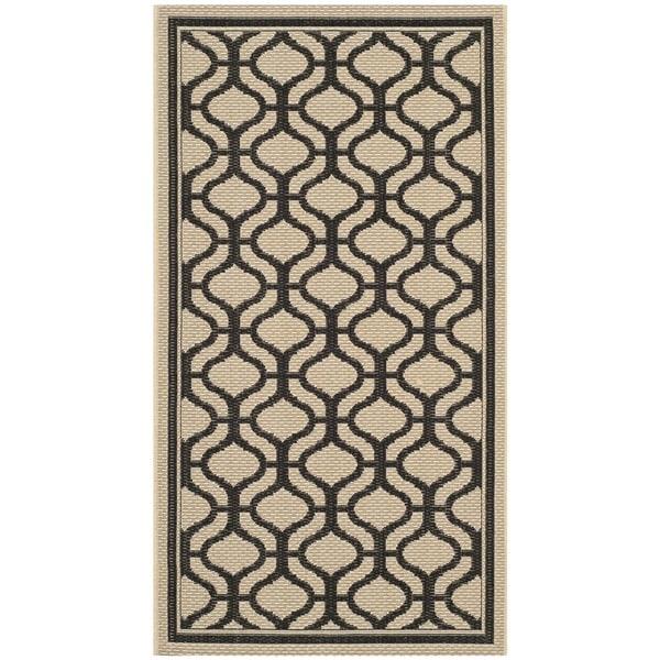 Martha Stewart by Safavieh Tangier Cream/ Black Indoor/ Outdoor Rug (2'7 x 5')
