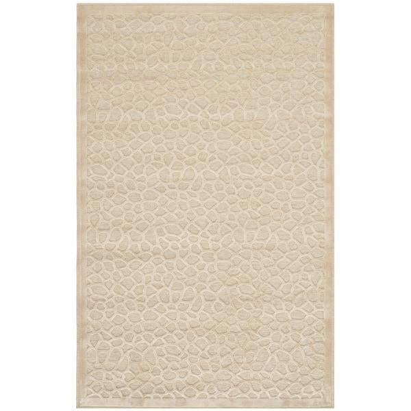 Martha Stewart by Safavieh Tortoise Cream Viscose Rug (2'7 x 4') - 2'7 x 4'