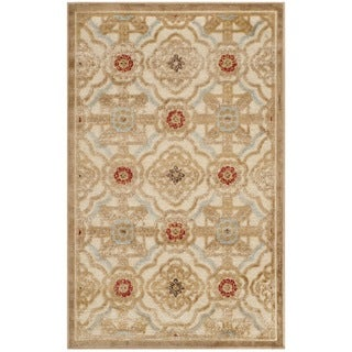Martha Stewart Imperial Palace Taupe/ Cream Viscose Rug (2'7 x 4')
