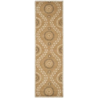 Martha Stewart Ogee Dot Curry Wool Rug (2'3 x 8')