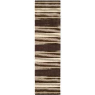 Martha Stewart Harmony Stripe Tobacco Leaf Wool Rug (2'3 x 8')
