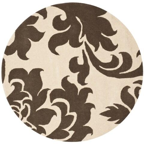 Martha Stewart by Safavieh Barcelona Molasses Wool Rug - 4'x 4' round