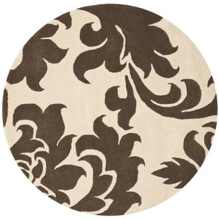 Martha Stewart by Safavieh Barcelona Molasses Wool Rug (4'x 4' Round)