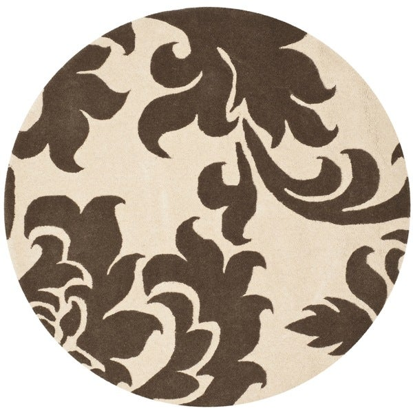 Martha Stewart by Safavieh Barcelona Molasses Wool Rug (8'x 8' Round)