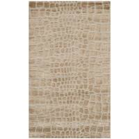 Martha Stewart by Safavieh Amazonia Raft/ Beige Silk Blend Rug - 3'9 x 5'9