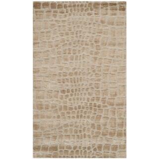 Martha Stewart by Safavieh Amazonia Raft/ Beige Silk Blend Rug - 3'9 x 5'9