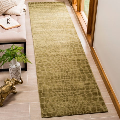 "Martha Stewart by Safavieh Amazonia Canopy/ Green Silk Blend Rug - 9'6"" x 13'6"""