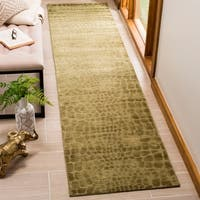 Martha Stewart by Safavieh Amazonia Canopy/ Green Silk Blend Rug - 9'6 x 13'6