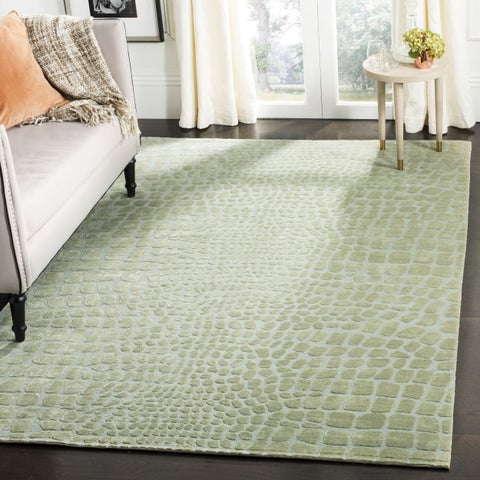 "Martha Stewart by Safavieh Amazonia Canopy/ Green Silk Blend Rug - 5'6"" x 8'6"""