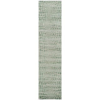 Martha Stewart Amazonia Feldspar Silk Blend Rug (2'3 x 10')