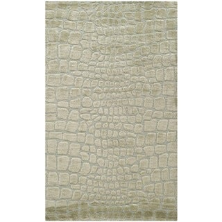 Martha Stewart Amazonia Hanging/ Moss Silk Blend Rug (3'9 x 5'9)