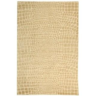Martha Stewart Amazonia Meerkat/ Brown Silk Blend Rug (5'6 x 8'6)