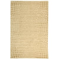 Martha Stewart by Safavieh Amazonia Meerkat/ Brown Silk Blend Rug - 5'6 x 8'6