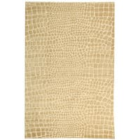 Martha Stewart by Safavieh Amazonia Meerkat/ Brown Silk Blend Rug - 7'9 x 9'9