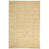 Martha Stewart by Safavieh Amazonia Meerkat/ Brown Silk Blend Rug - 8'6 x 11'6