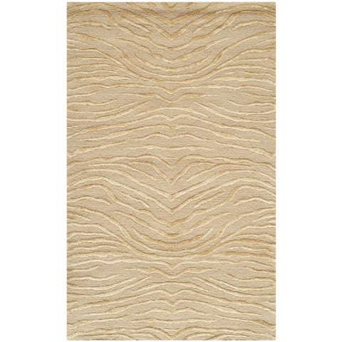 "Martha Stewart by Safavieh Journey Sand Silk/ Wool Rug - 2'6"" x 4'3"""