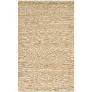 Martha Stewart Journey Sand Silk/ Wool Rug (2'6 x 4'3)