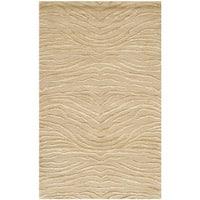 """Martha Stewart by Safavieh Journey Sand Silk/ Wool Rug - 2'6"""" x 4'3"""""""