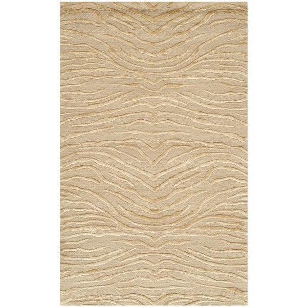 Martha Stewart by Safavieh Journey Sand Silk/ Wool Rug (2'6 x 4'3)