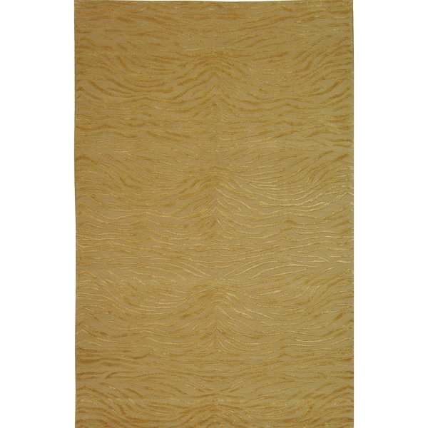 Martha Stewart by Safavieh Journey Sand Silk/ Wool Rug - 8'6 x 11'6