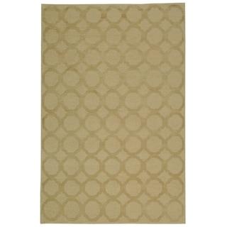 Martha Stewart Quatrefoil Curry Silk/ Wool Rug (7'9 x 9'9)